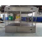 CAGES for Sale - NEW 2 Dog cage with storage above and below in Stainless Steel to fit a Renault Trafic/Vauxhall Vivaro up to year 2014